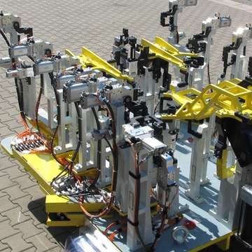 Production of welding tools up to 3.000 x 3.000 mm size and up to 4.500 kg