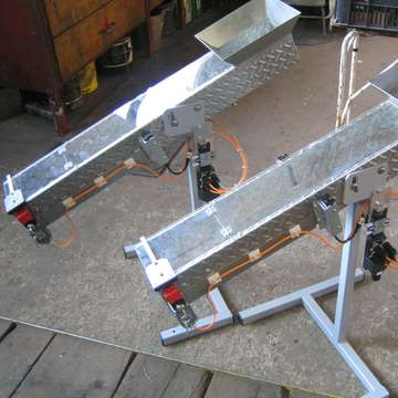 Welding press equipment: gravity chute for OK/NOK parts